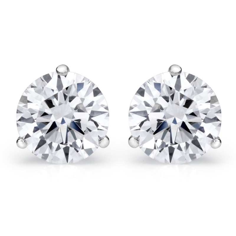 1.40 Cttw. 14KW Diamond Earrings by Padis Signature Collection
