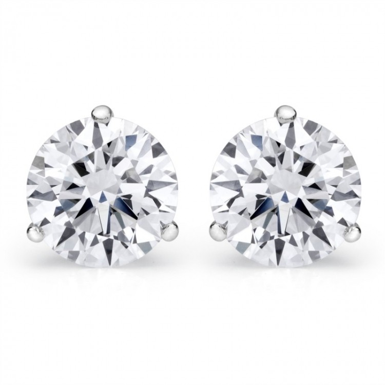 3.32 Cttw. 14KW Diamond Earrings by Padis Signature Collection