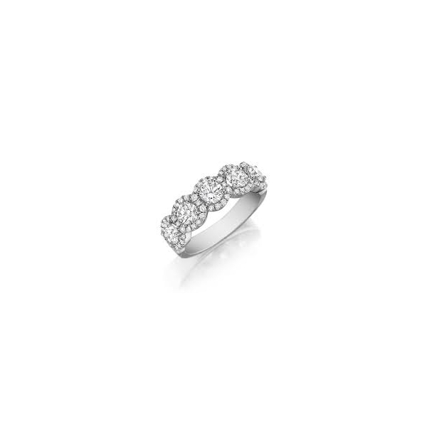 Henri Daussi Halo Diamond Ring by Henri Daussi