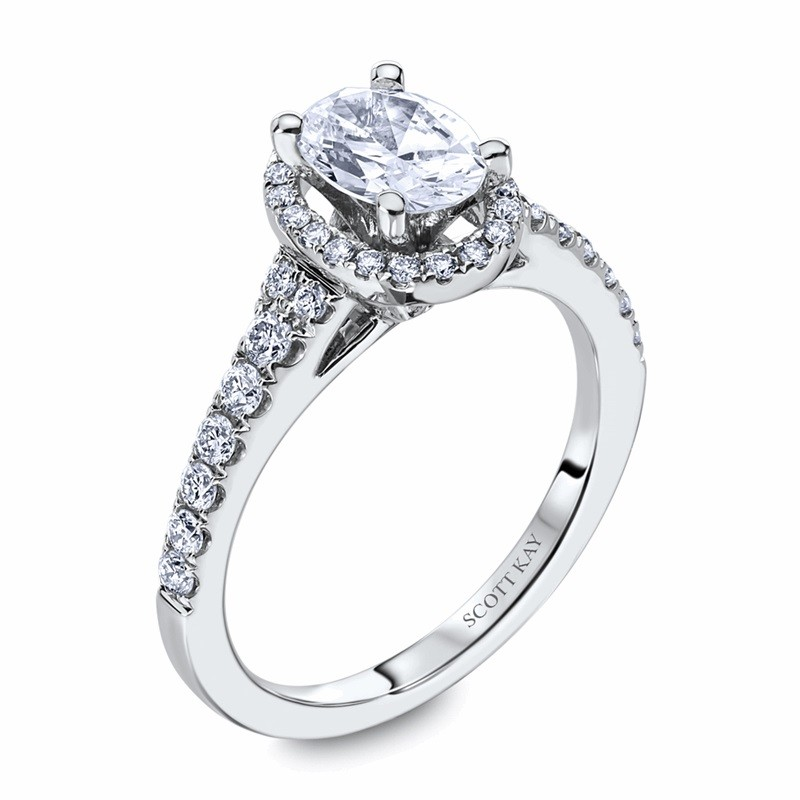 Scott Kay Halo Diamond Ring by Scott Kay