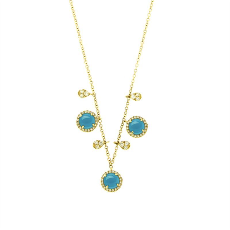 Meira T. Turquoise and Diamond Necklace by Meira T.