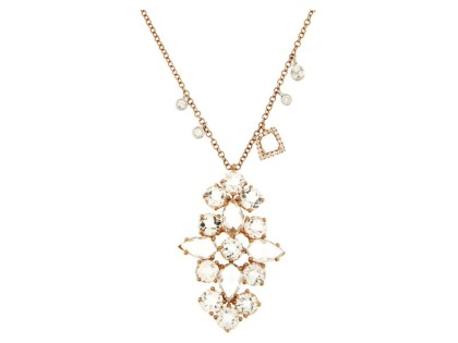 Meira T. Rose Gold and Diamond Necklace by Meira T.