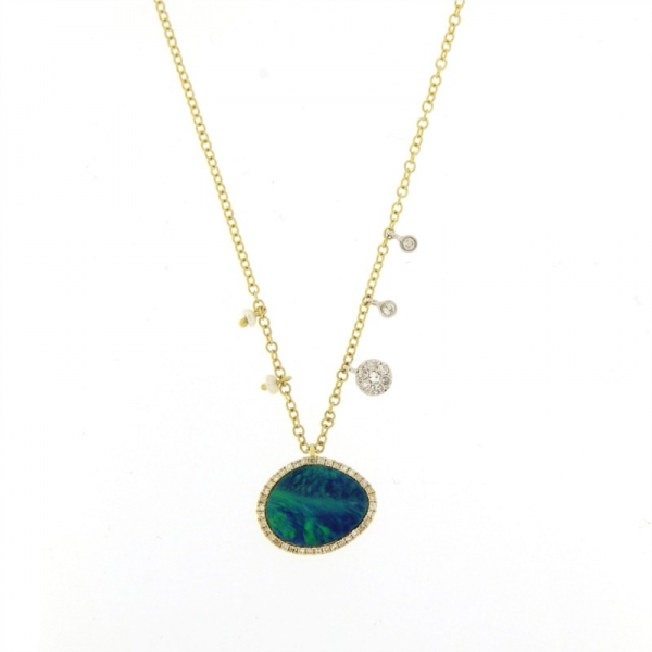 Meira T. Opal and Diamond Necklace by Meira T.