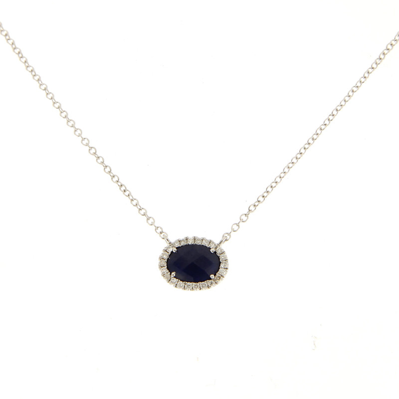 Meira T. Sapphire and Diamond Necklace by Meira T.