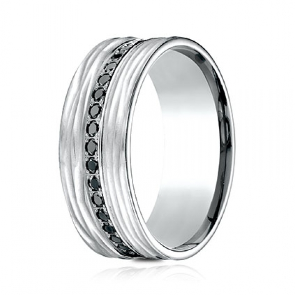 Ammara Stone 9mm Eternity Black Diamond Ring by Ammara Stone
