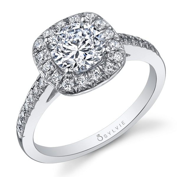 Sylvie Halo Diamond Ring by Sylvie